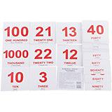 """Набор обучающих мини-карточек Вундеркинд с пелёнок """"Numbers/Числа"""", двухсторонний 40 штук"""