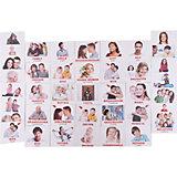 """Набор обучающих мини-карточек Вундеркинд с пелёнок """"Family/Семья"""", двухсторонний 40 штук"""