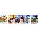 """Комплект тетрадей в клетку АппликА """"Улицы Европы"""" 5 шт, 48 листов с полями"""