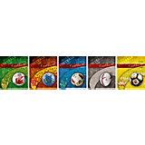 """Комплект тетрадей в клетку АппликА """"Футбольный мяч"""" 5 шт, 48 листов с полями"""