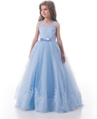Платье Престиж для девочки - голубой