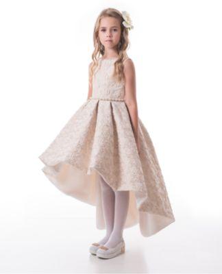 Платье Престиж для девочки - коричневый