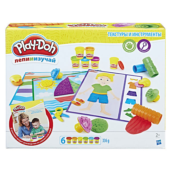 "Набор пластилина Hasbro Play-Doh ""Текстуры и инструменты"""