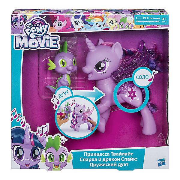 """Игровой набор Hasbro My little Pony """"Сияние"""", Поющая Твайлайт Спаркл (Искорка) и Спайк"""