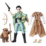 """Кукла Hasbro Star Wars """"Планета Эндор"""", Принцесса Лея и Эвок"""