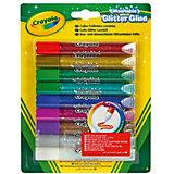 Клей с блестками Crayola, 9 цветов