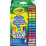 Набор смываемых мини-фломастеров Crayola, 16 штук
