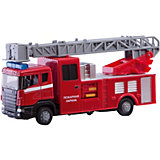 Машинка Autotime Пожарная машина Scania Fire с лестницей, 1:48