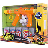 "Бластер Toy Target ""Power Blaster"" с банками, (оранжевый)"