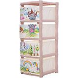 """Комод для детской комнаты Little Angel """"Сказочная принцесса"""", 4 ящика"""