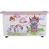 "Ящик для хранения игрушек Little Angel ""Сказочная принцесса"", 57 л., на колесах"