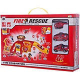 """Парковка Shantou Gepai """"Пожарная служба"""" 2 уровня + 2 машины и вертолет"""