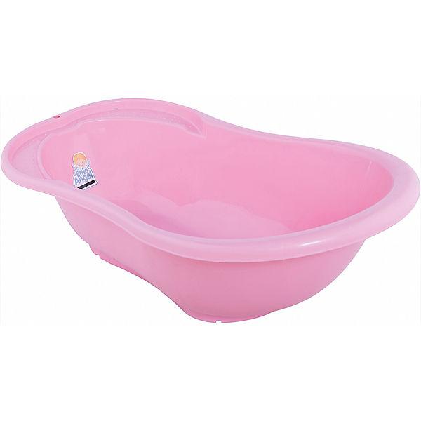 """Детская ванночка Little Angel """"Ангел"""" со сливом и термометром, 84 см (розовая)"""