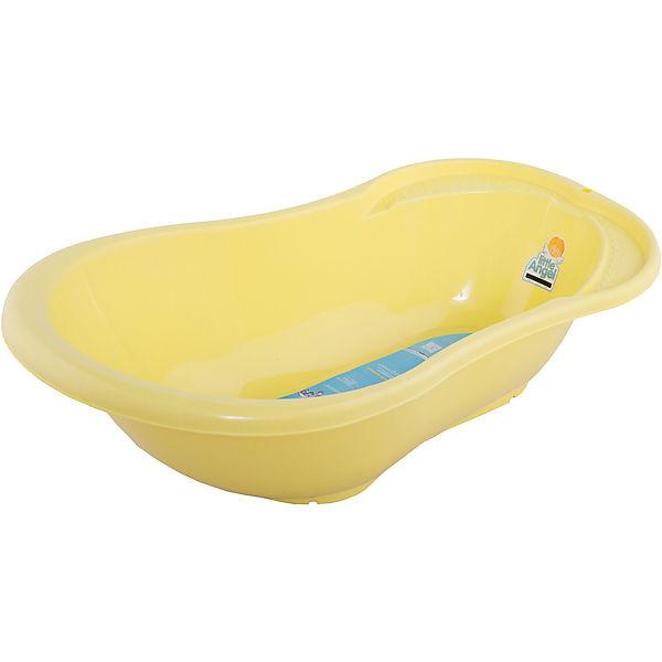 """Детская ванночка Little Angel """"Ангел"""" со сливом и термометром, 84 см (желтая)"""