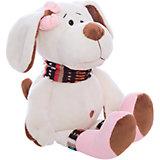 Собака с розовым бантом, 17см
