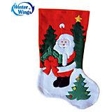"""Носок для подарков Winter Wings """"Дед Мороз"""", 40 см"""