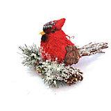 """Декоративное украшение Winter Wings """"Птичка лесная сказка"""" 14х10 см"""