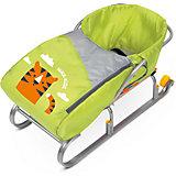 Сиденье для санок с чехлом для ног Nika-Kids, (тигренок, лимонный)