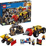 Конструктор LEGO City 60186: Тяжелый бур для горных работ