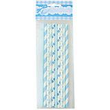 BA Трубочки бумажные голубое ассорти 10шт