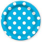 """Бумажные тарелки Патибум """"Голубой горошек"""", 6 шт 23 см"""