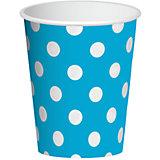 """Бумажные стаканы Патибум """"Голубой горошек"""", 6 шт 250 мл"""