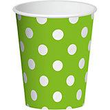 "Бумажные стаканы Патибум ""Зеленый горошек"", 6 шт 250 мл"