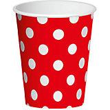 "Бумажные стаканы Патибум ""Красный горошек"", 6 шт 250 мл"