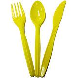 F Столовые приборы пласт желтый 18шт