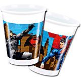 Pc 200мл Стаканы пластиковые Бэтмен против Супермена 8шт