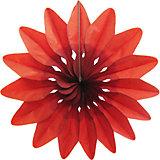 """Украшение для праздника Патибум """"Цветок"""" 36 см., красный"""