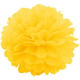 """Украшение для праздника Патибум """"Помпон"""" 20 см., жёлтый"""