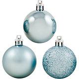 Набор елочных шаров Magic Land 6 шт, 6 см (голубые)