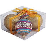Набор елочных шаров Magic Land 4 шт, 7 см (золотые)