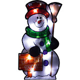 """Световое панно Magic Land """"Веселый снеговик"""" 20 ламп, 42,5х22,5 см"""