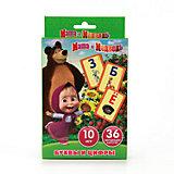 """Карточки развивающие """" Учим алфавит и цифры"""" дизайн """"Маша и Медведь"""" 36 карточек"""