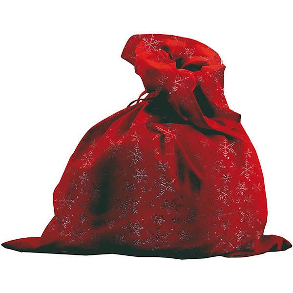 М-3 Мешок Деда Мороза красн+снежин, сатин