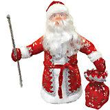 Дед Мороз под елку 40 см КРАСНЫЙ в упаковке