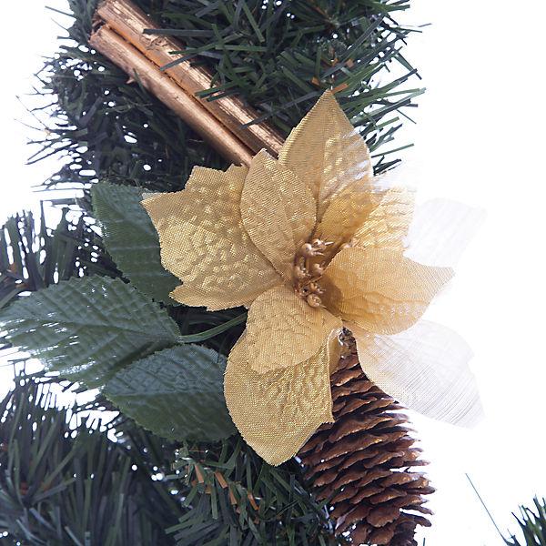 Новогоднее украшение на стену-венок- 51 см, в полибеге