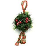 Новогоднее украшение - хвойный шарик с шишками , диаметр 20 см, в полибеге