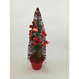 Новогоднее украшение, сосна - 35 см, в пвх тубе, цвета в ассортименте
