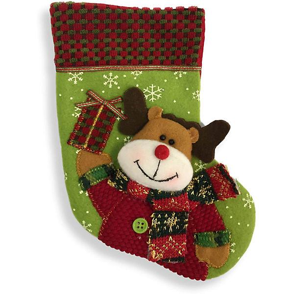Рождественский носочек 23 см, 3, в полибеге