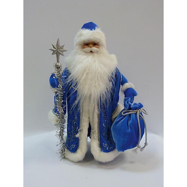 Дед Мороз в голубой шубе, 40 см, в полибеге