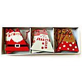 Ёлочное деревянное украшение, набор дедов морозов и снеговиков, 9 штук