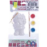 Детский набор для творчества- Медведь, 3 краски, кисточка, 12.5*4,8*17.5 см