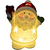Новогоднее украшение - Дед мороз/Снеговик светящийся, 8,8*7,2*5 см, 2 в ассортименте