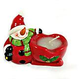 Дед Мороз и Снеговик-подсвечник со свечей, 8.2 x 4.5 x 7.7 см, в ассортименте