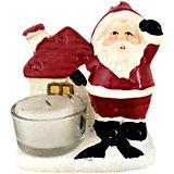 Дед мороз с домиком-подсвечник, 9.7 x 6.2 x 9.5 см, 2 в ассортименте