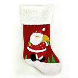 """Рождественский сувенир - носочек """"Дед Мороз"""", 48 см"""