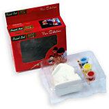 Набор для детского творчества, домик, 3 краски, коробка с окошком 6.8x4.3x8.5см